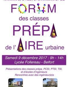 Forum des classes Préparatoires de l'Aire Urbaine