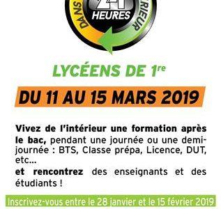 """""""24 h dans le Supérieur"""" : les élèves de 1ères et leurs parents sont concernés"""