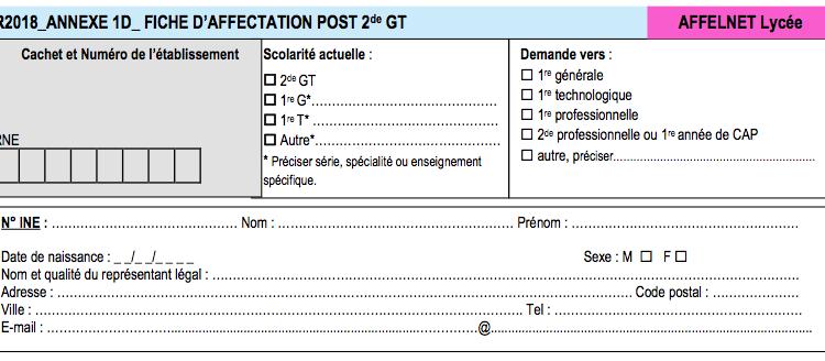 Calendrier Orientation SECONDES