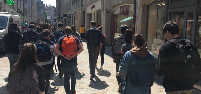 La classe de 1SB en sortie à Besançon