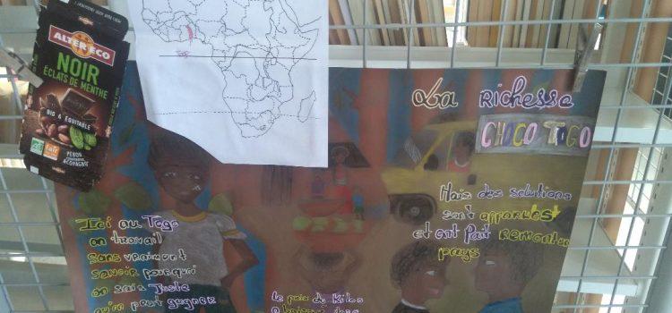 """Exposition """"Mondialisation et alimentation"""" au CDI du Site Grand-Chênois"""
