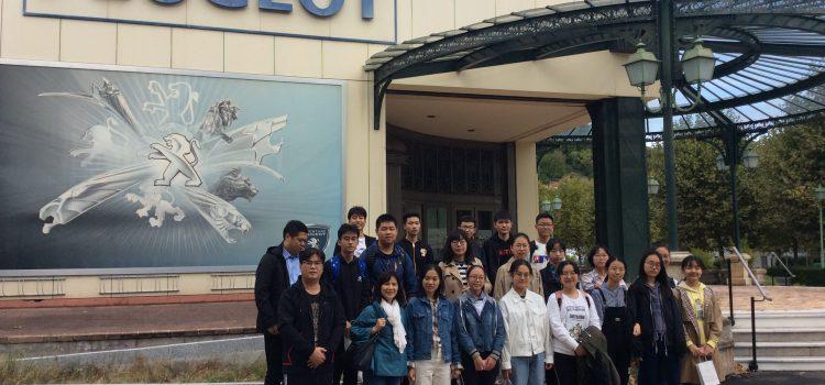 Le lycée de Hefei n°8 en visite à Montbéliard