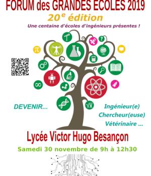 Forum des Grandes Écoles 2019 – Lycée Victor Hugo Besançon