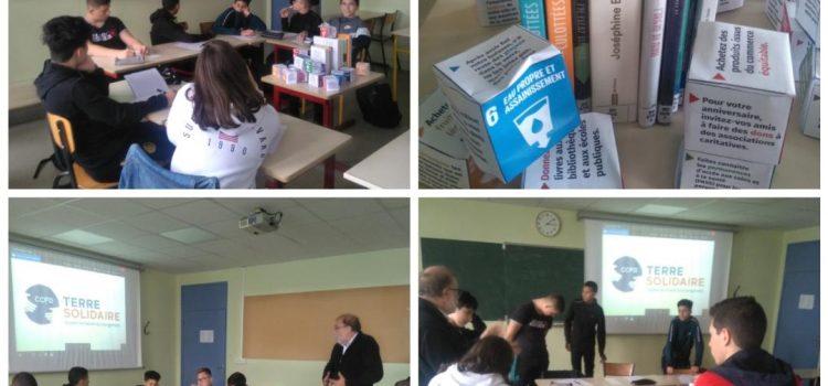 Sensibilisation des élèves de seconde B à l'action du CCFD Terre Solidaire