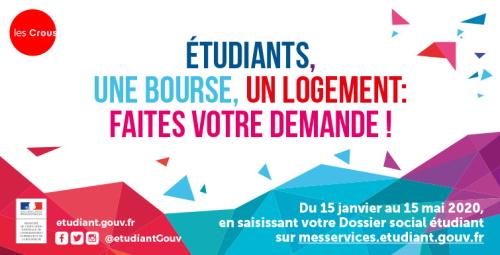 Etudiants et futurs étudiants : demander une bourse, un logement, c'est le moment !