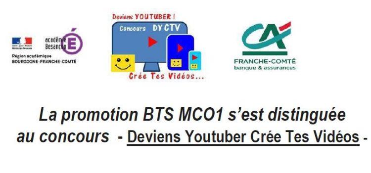 """Les étudiants de BTS MCO 1 arrivent premier au concours """"Deviens Youtuber Crée Tes Vidéos"""""""