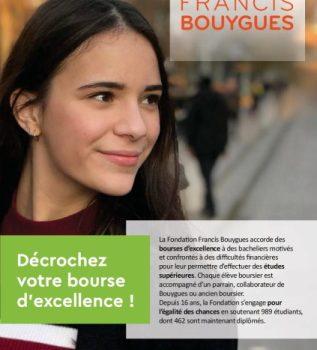 Bourse d'études supérieures Fondation Francis Bouygues